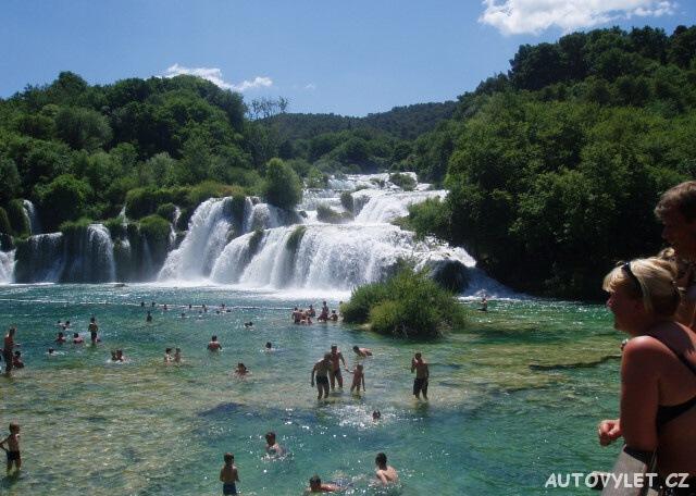 Vodopády Krka v Chorvatsku