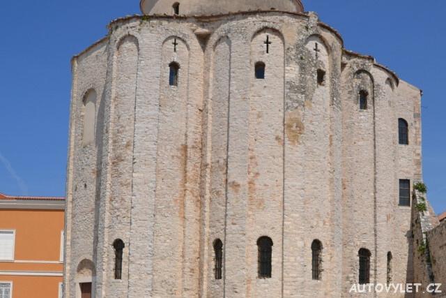 Zadar Chorvatsko - kostel sv.Donáta detail zadní část