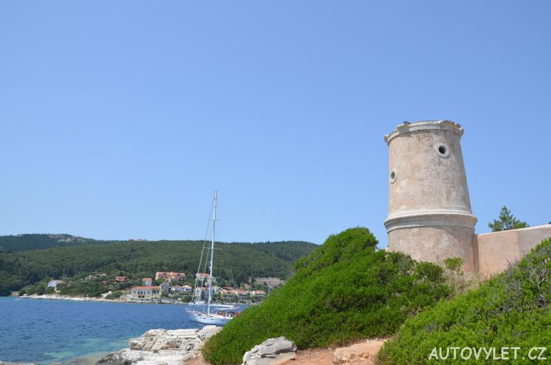 Zbytky hradu - Fiskardo Kefalonia