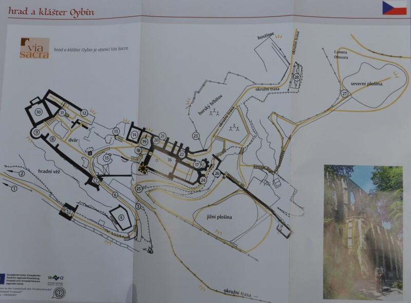 Hrad a klášter Oybin - mapa
