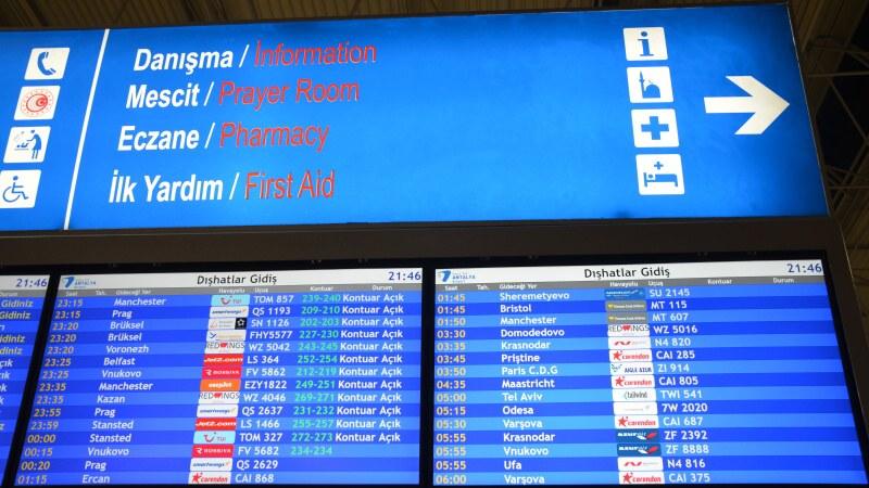 Letiště Antalya Turecko - odlety