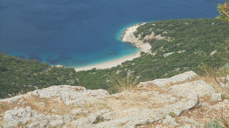 Plaza sv. Lubenice - Chorvatsko Cres ostrov