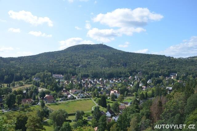 Rozhledna Hvozd - Hochwaldturm Oybin Německo