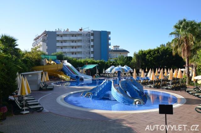 Tobogány - Gardenia beach hotel Turecko