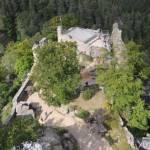 Výhled z rozhledny hradu Oybin 3