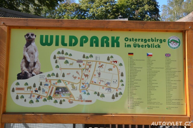 Mapa - Wildpark Osterzgebirge
