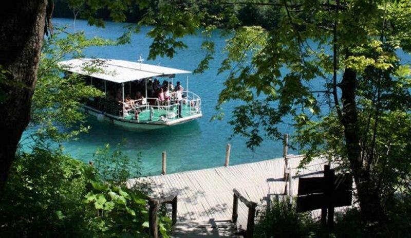 Plitvická jezera Chorvatsko - loď