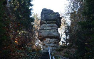 Bischofstein - zřícenina hradu Skály