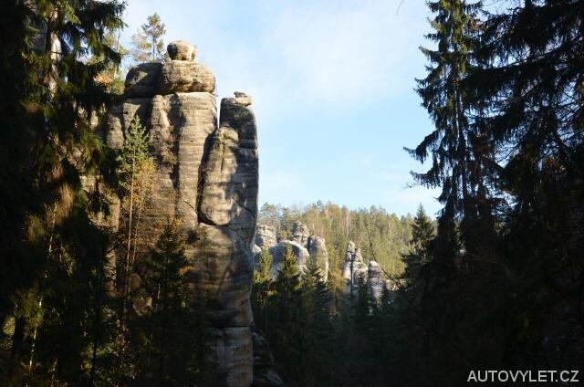 Malé panorama - skály Adršpach