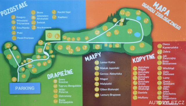 Mapa - Zoo Laczna Polsko