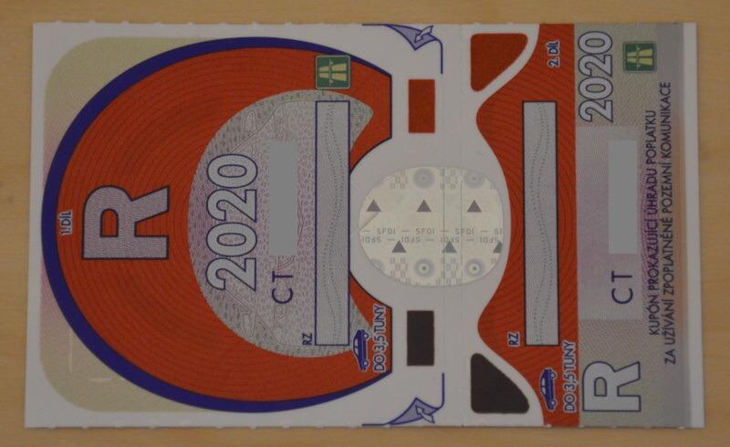 Dálniční známka 2020
