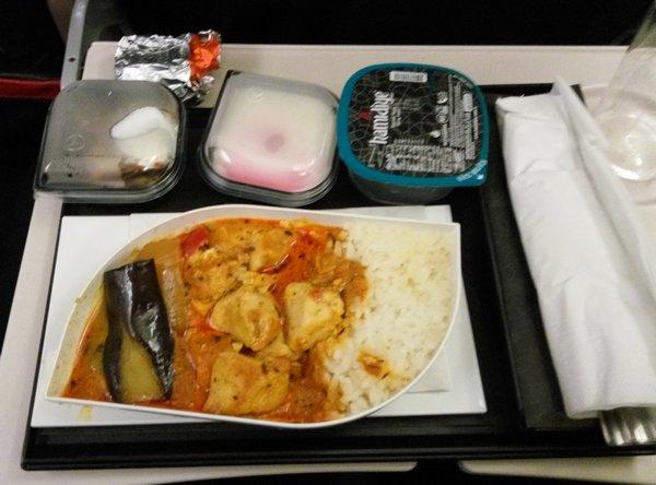 Jídlo v letadle do Turecka