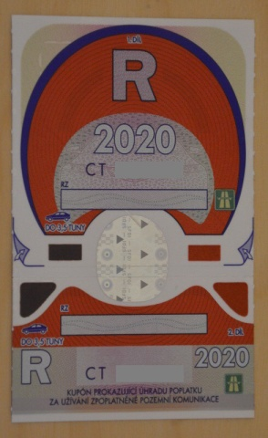 Roční dálniční známka 2020