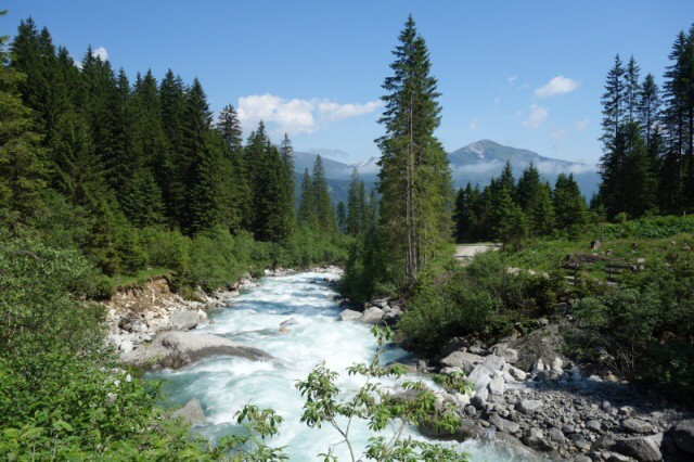 Údolí říčky Krimmler Ache Rakousko
