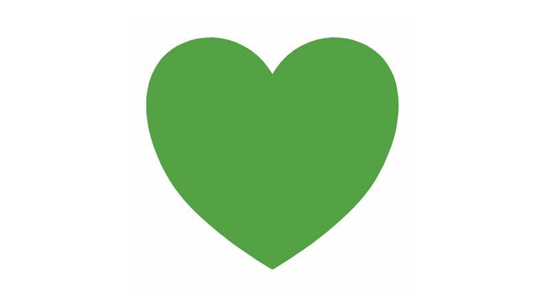 Vízový sponzor - zelené srdce