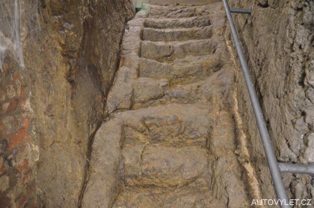 Jihlavské podzemí - původní schody