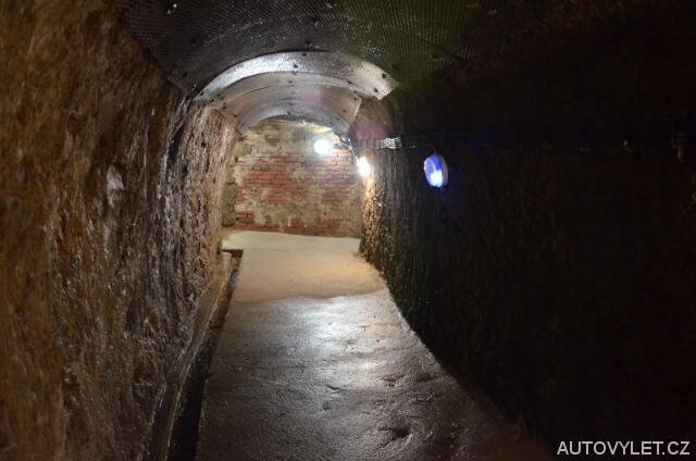 Jihlavské podzemí - svítící chodba