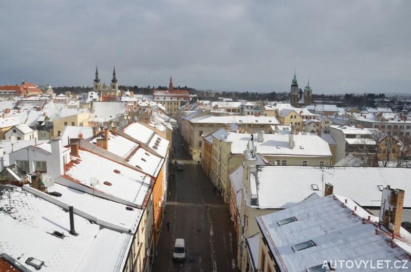 Město Jihlava v zimě