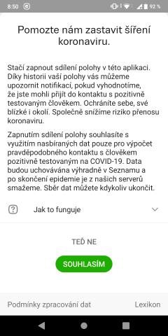 mapy.cz sdílení polohy covid19 - 1