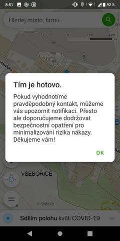 mapy.cz sdílení polohy covid19 - 3