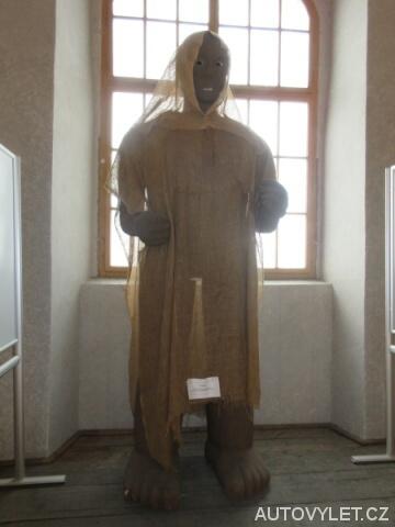 Golem v muzeu v Kolíně