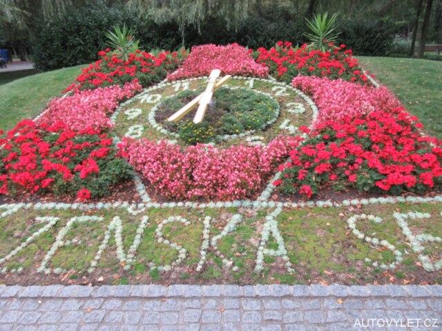Květinové hodiny - Poděbrady