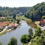 Město Bechyně - řeka