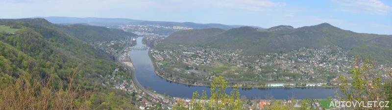 Panorama - Alžbětina vyhlídka Ústí nad Labem
