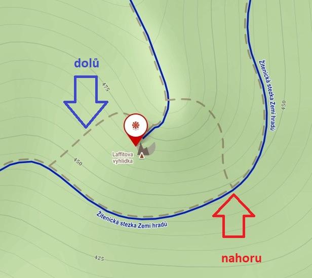 Laffitova vyhlídka - mapa