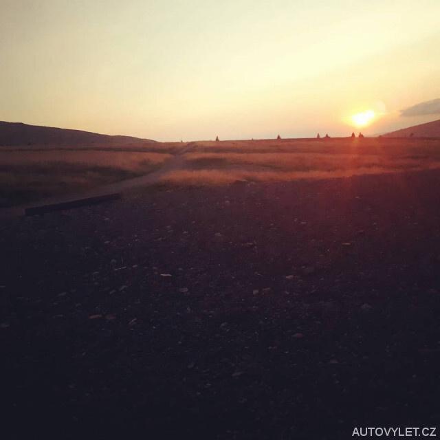 Západ slunce - Luční bouda - Krkonoše