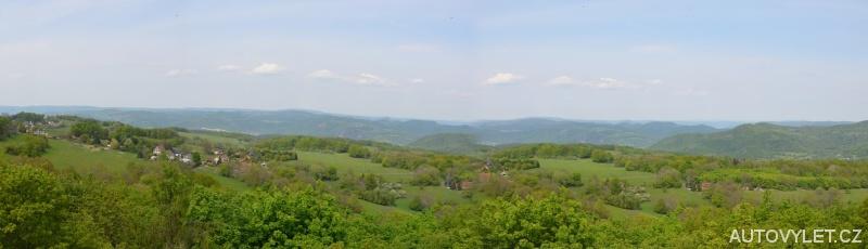 Rozhledna Malečov - panorama