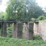 Hrad Lukov - pilířový most