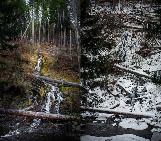 Umělý vodopád - Bílá Opava