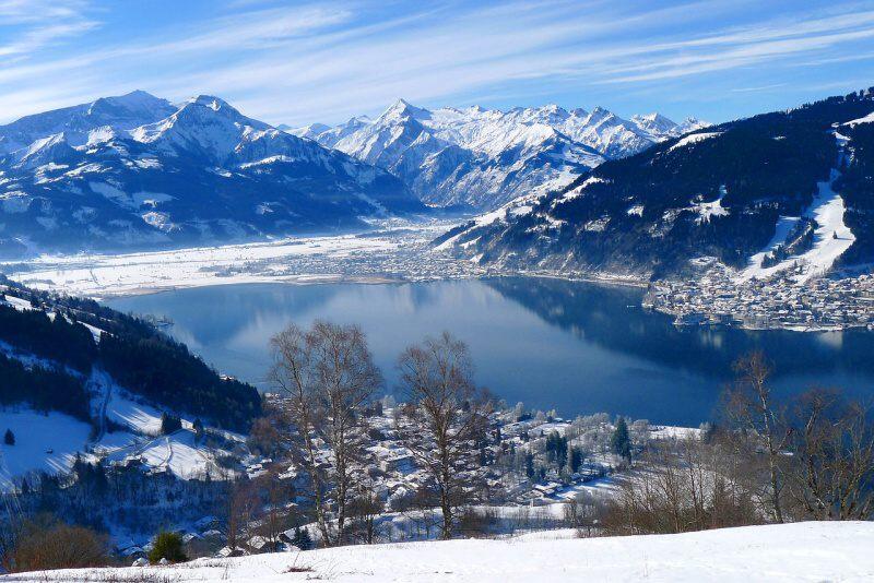 Zell am See jezero v zimě