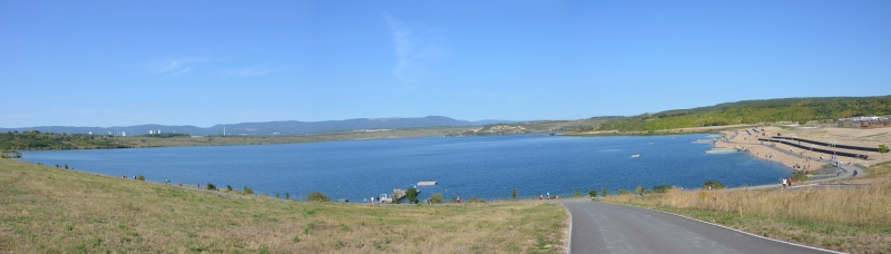 Jezero Most panorama