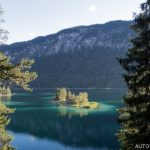Jezero Eibsee Německo 2
