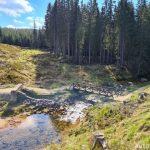 Protržená přehrada Bílá Desná Orlické hory 2
