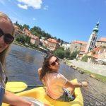 Sjíždění Vltavy v Českém Krumlově