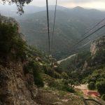 Cesta ke klášteru Montserrat ve Španělsku
