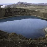 Kráter sopky Krafla Viti na Islandu