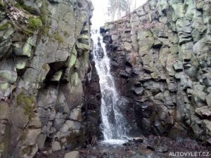 Pekelský vodopád v Ústí nad Labem