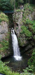 Vodopád v Miedzygórze v Polsku