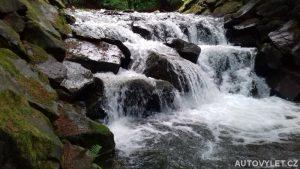 Satinské vodopády v Beskydech