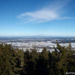 Výhled z Kraví hory v zimě