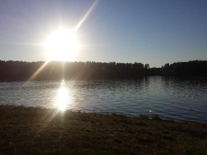 Západ slunce u jezera Kristýna