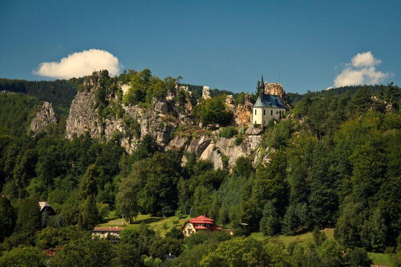 Skalní hrad Vranov - Pantheon - Malá Skála