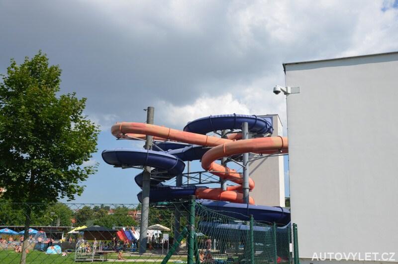 Aquapark Uherské Hradiště - tobogány a venkovní koupaliště