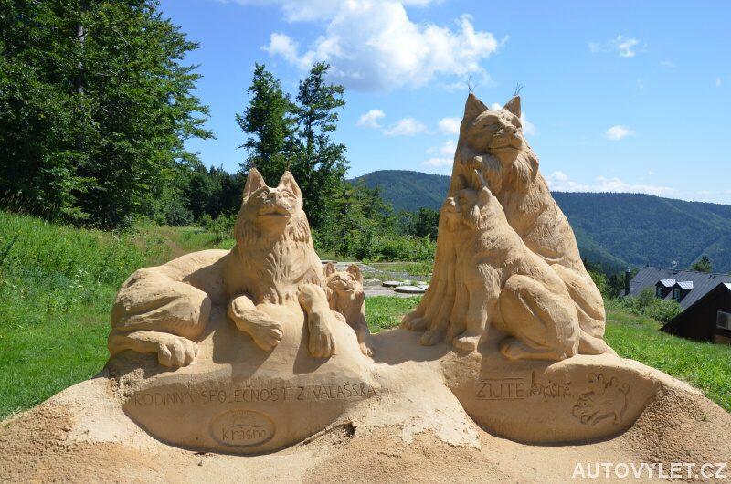 Pískoles - sochy z písku Pustevny