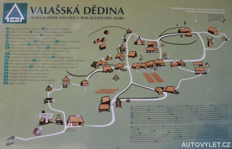 Valašské muzeum v přírodě mapa