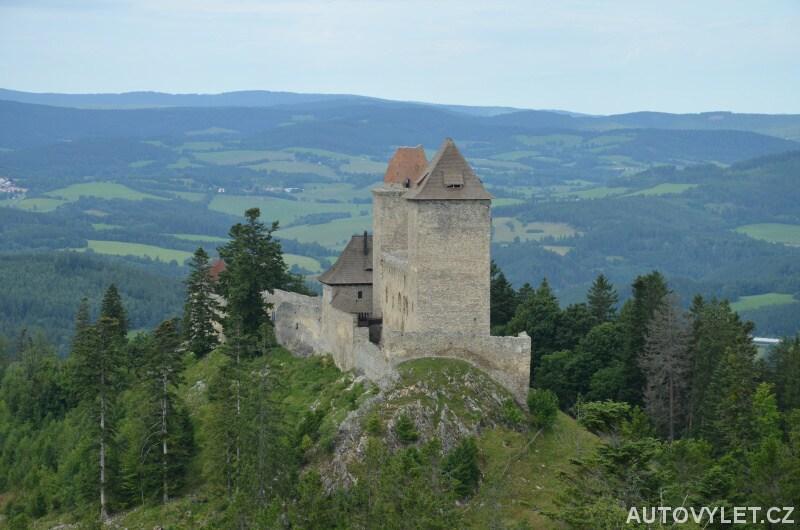 Vyhlídka na hrad Kašperk z Pustého hrádku